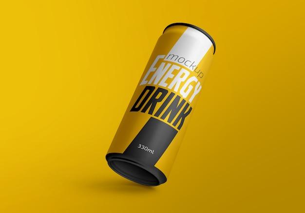 Maquete de lata de bebida de 330 ml