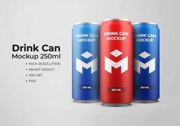 Maquete de lata de bebida