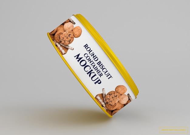 Maquete de lata de biscoito de biscoito arredondado