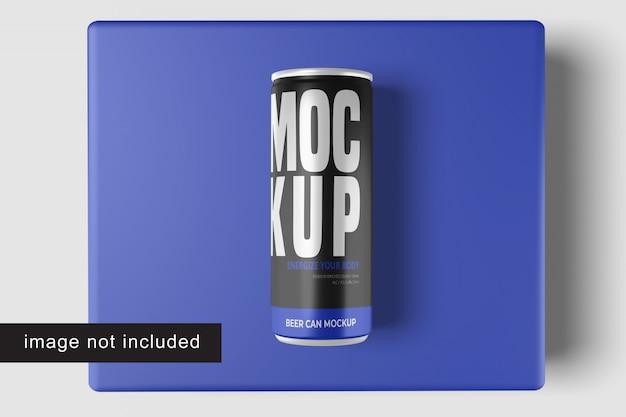 Maquete de lata de cerveja
