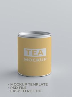 Maquete de lata de chá pequena