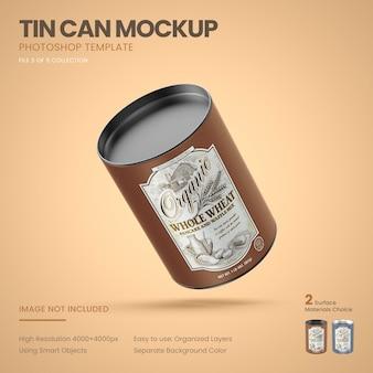 Maquete de lata de lata média