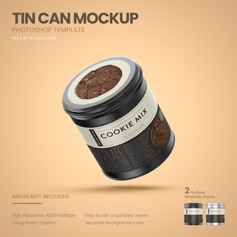 Maquete de lata de lata pequena