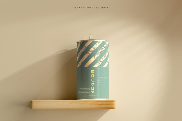 Maquete de lata de óleo de alumínio