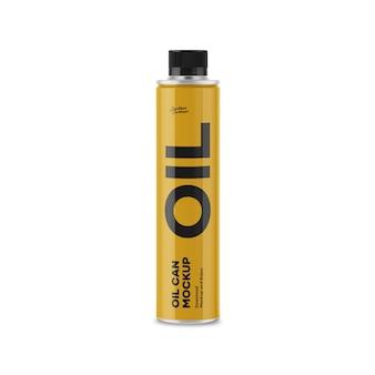 Maquete de lata de óleo