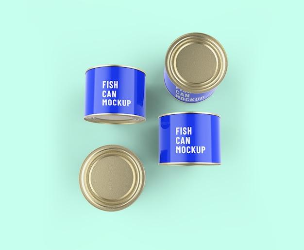 Maquete de lata de peixe
