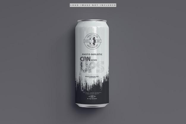 Maquete de lata de refrigerante de 500 ml