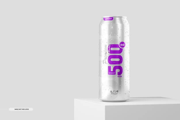 Maquete de lata de refrigerante de 500ml