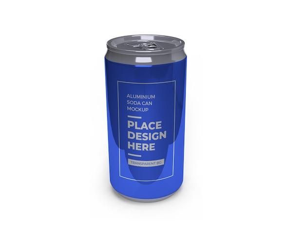 Maquete de lata de refrigerante de alumínio