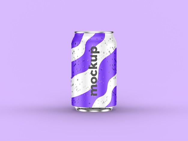 Maquete de lata de refrigerante realista