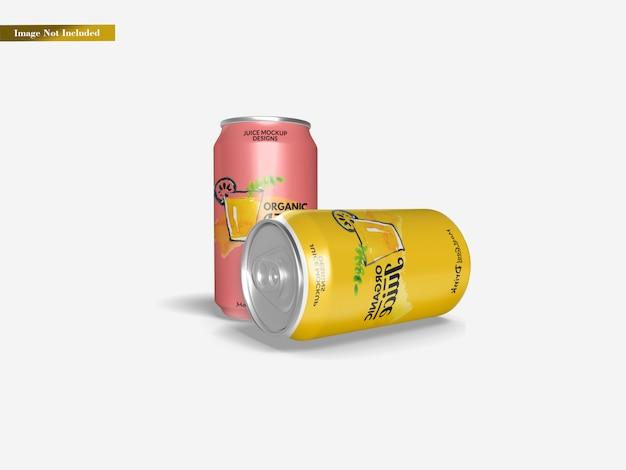 Maquete de lata de refrigerante
