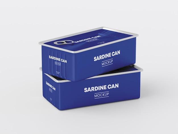 Maquete de lata de sardinha