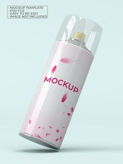 Maquete de lata de spray de mosquito