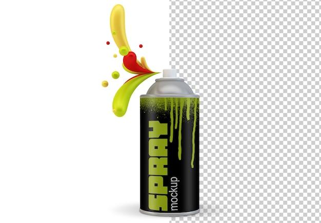 Maquete de lata de spray isolada