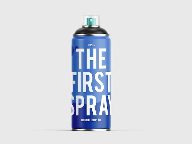 Maquete de lata de tinta spray