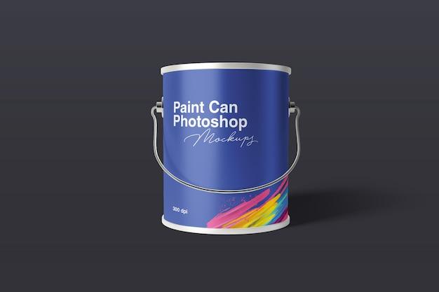 Maquete de lata de tinta