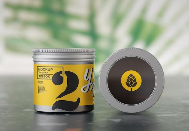 Maquete de lata redonda