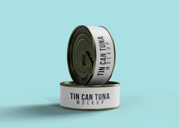 Maquete de latas de atum