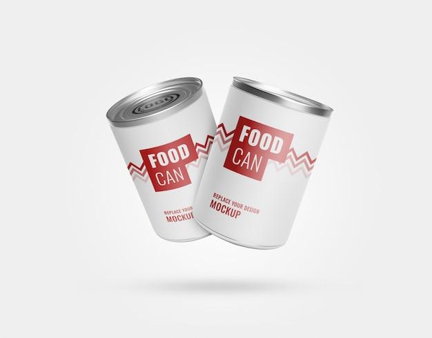 Maquete de latas de comida