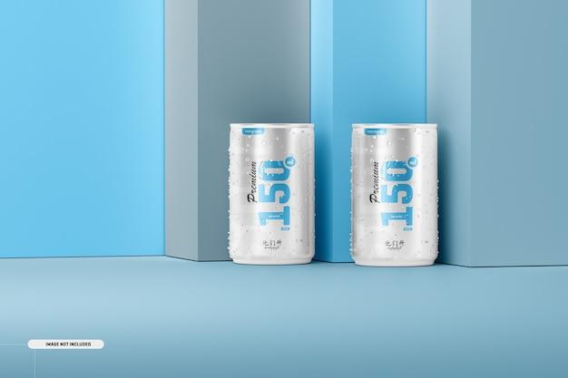 Maquete de latas de refrigerante 150ml