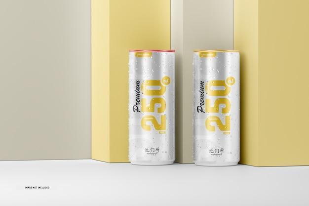 Maquete de latas de refrigerante 250ml
