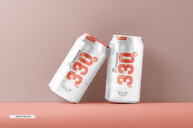 Maquete de latas de refrigerante 330ml