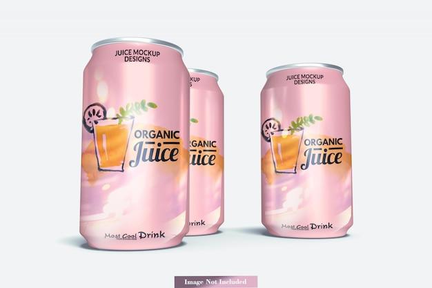 Maquete de latas de refrigerante