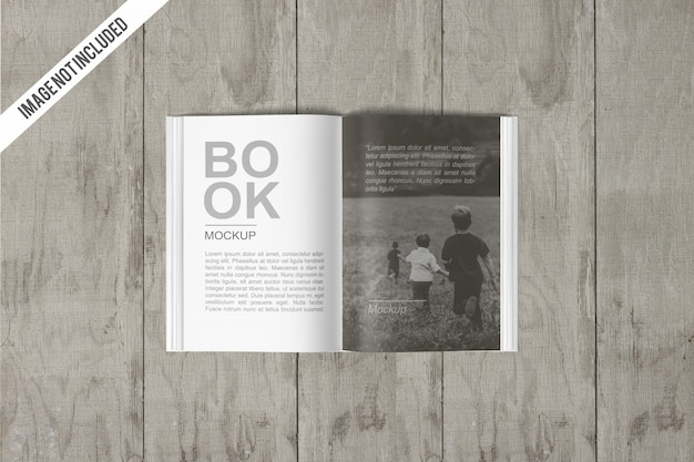 Maquete de livro aberto