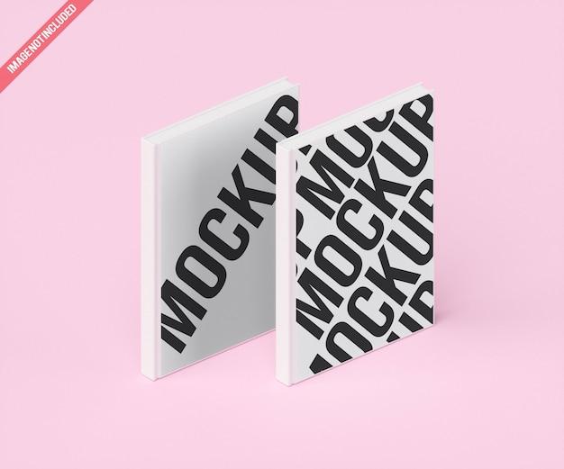 Maquete de livro branco duplo moder