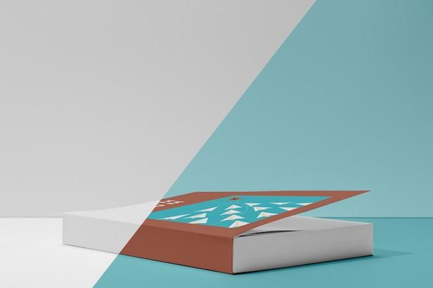 Maquete de livro com vista frontal