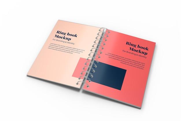 Maquete de livro de anel para branding e identidade