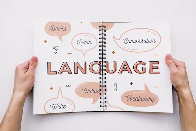Maquete de livro de caneta