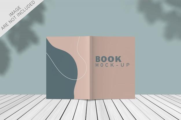 Maquete de livro de capa com sobreposição de sombra