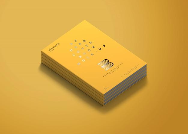 Maquete de livro de capa dura a4