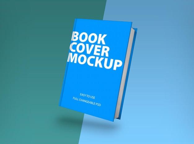 Maquete de livro de capa dura em renderização 3d