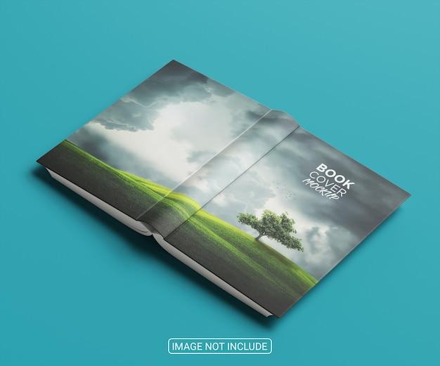 Maquete de livro de capa mole frente e verso
