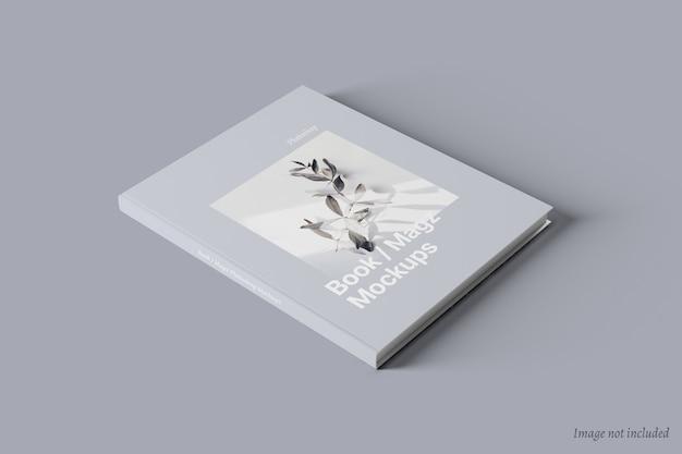 Maquete de livro e capa de revista