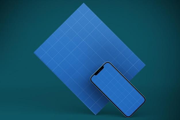 Maquete de livro e smartphone