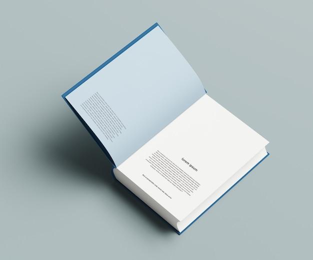 Maquete de livro grosso aberto isolado
