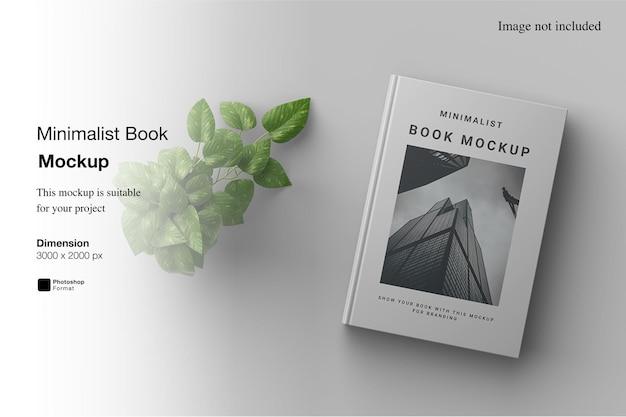 Maquete de livro minimalista