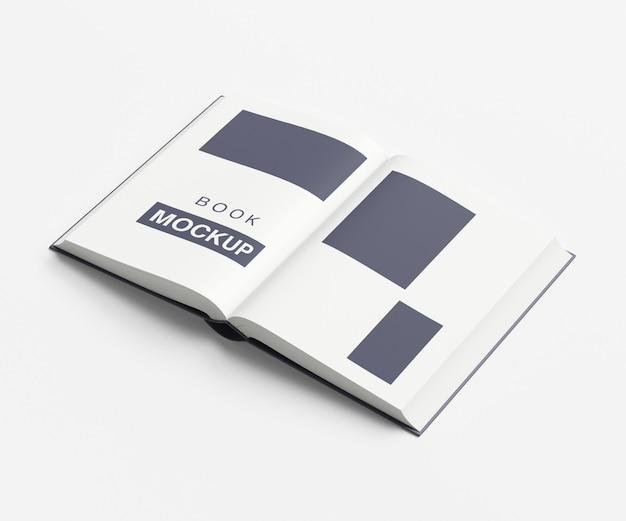 Maquete de livro ou revista aberta