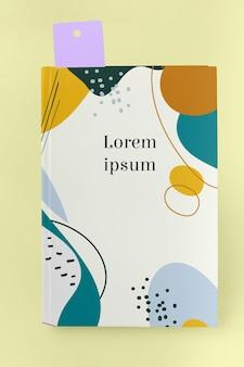 Maquete de livro plana leigos com marcador