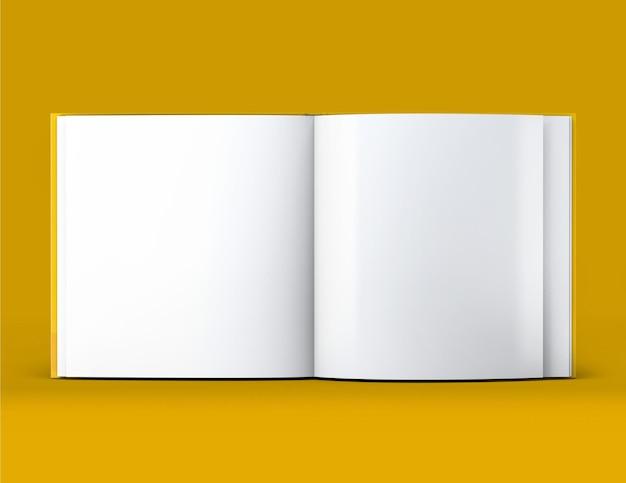 Maquete de livro quadrada