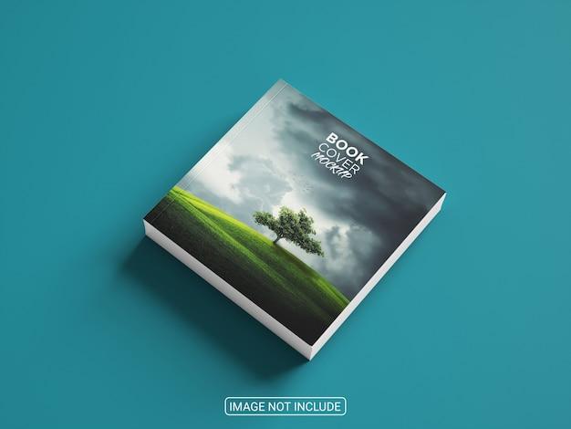 Maquete de livro quadrado incrível e realista