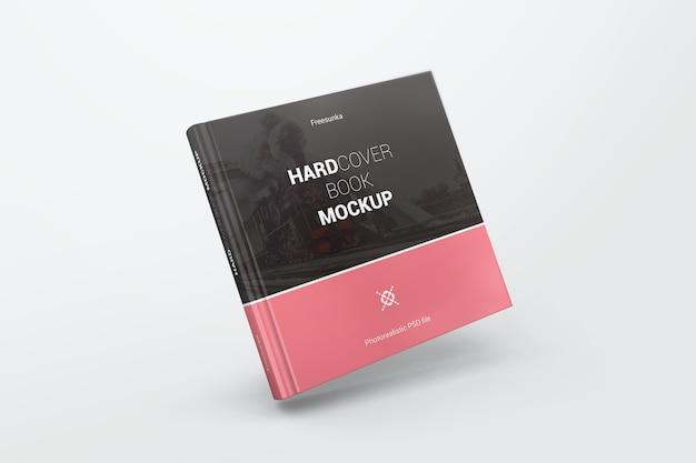 Maquete de livro quadrado voador