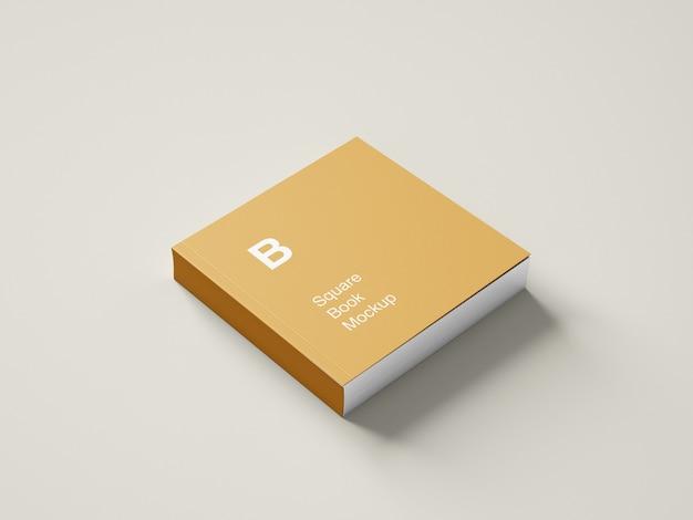 Maquete de livro quadrado