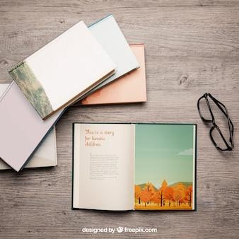Maquete de livros criativos