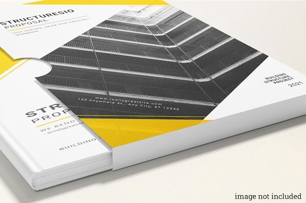 Maquete de livros de capa