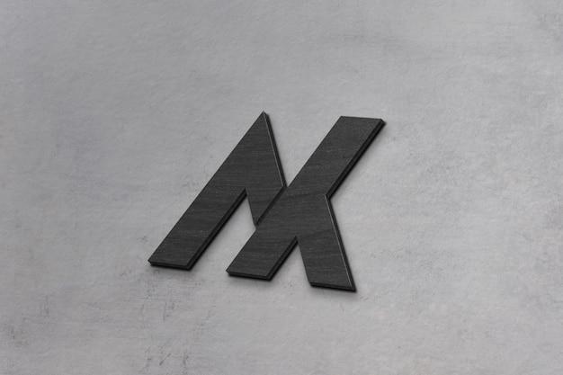 Maquete de logotipo 3d concreta