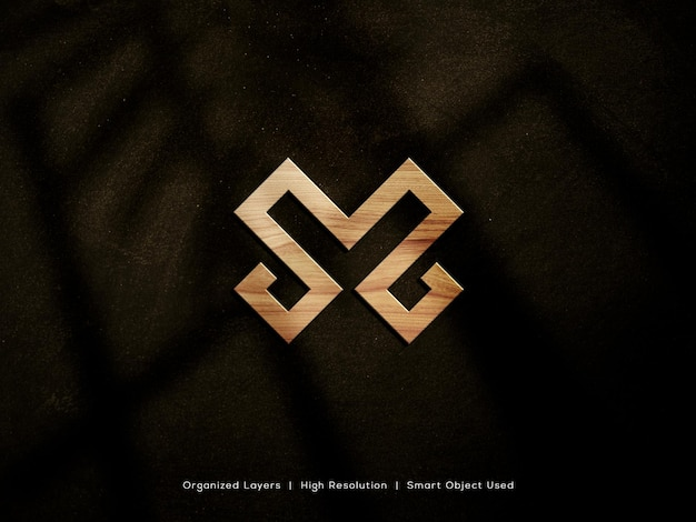 Maquete de logotipo 3d de luxo